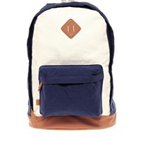 ASOS Contrast Canvas Backpack at asos.com