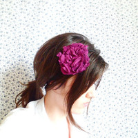 Purple Flower Headband