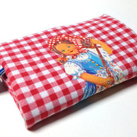 Coin Purse Pocket retro little girl by Friesenliese on Etsy
