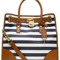 MICHAEL Michael Kors Handbag, Hamilton Large Stripe North South Tote - Shop All - Handbags &amp; Accessories - Macy&#x27;s