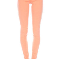 Colored Skinny Jeans in Apricot :: tobi