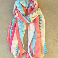 Spring Geometric Scarf : Vintage Inspired Clothing & Affordable Fall Frocks, deloom | Modern. Vintage. Crafted.