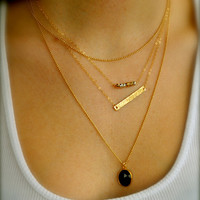 Gold Layering Necklaces, 14K gold fill, Set of 3