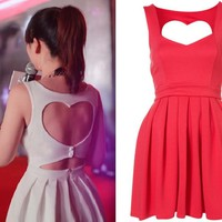 SALE Cut Out Back Heart Dress