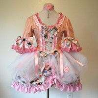 Pink Cupcake mini Marie Antoinette rococo Victorian inspired dress