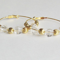 2 Gold Hoop Earrings by StrictlyCute on Etsy