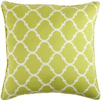 Cabana Geometric Pillow - Green
