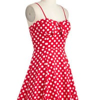Getting Dot in Here Dress | Mod Retro Vintage Dresses | ModCloth.com