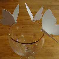 Die Cut Wine Glass  Butterfly, Butterfly Place Cards, Wedding Butterfly Decoration -set of 50 Butterflies for Wine Glasses
