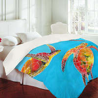 DENY Designs Home Accessories | Clara Nilles Tie Dye Sea Turtles Duvet Cover
