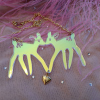 Radiant Acrylic FAWNS Necklace by imyourpresent on Etsy