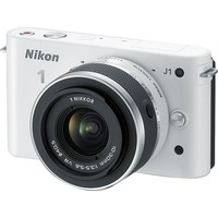 Nikon - 1 Mirrorless Camera (Body with Lens Kit) - 10 mm-30 mm Lens - White