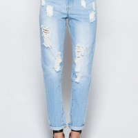 Wasteland Pants - ShopWasteland.com -  Destroyed Boyfriend Jeans