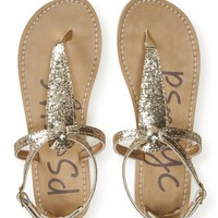 Kids' Pure Glitter T-Strap Sandals - PS From Aeropostale
