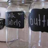 Vinyl Chalkboard Labels  Set of 10  by TakitPeelitStickit on Etsy