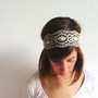 Beaded Sequin Boho Headband Head Bands  Hair by NadjasMovingCastle