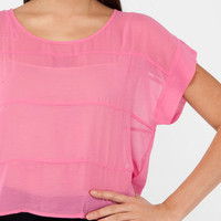 True Color Top in Pink :: tobi