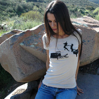 $24.00 Hot Lava T-shirt (natural organic cotton) by circlesandsquares