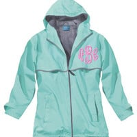 Monogrammed Rain Jacket Waterproof Windproof