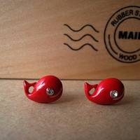 Whale Earrings Studs Mini by Bitsofbling on Etsy
