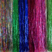 Hair Tinsel - SALON PACK - 7 packs of 100 Strands Mixed Colors 100% Silk! FREE HOOK TOOL and 100 MIXED COLOR MICRO LINKS!