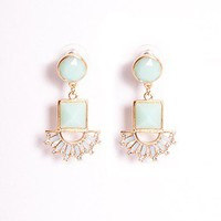 Lily Fan Drop Earrings - Accessories