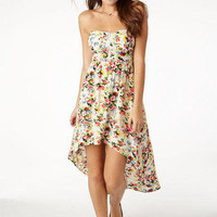 Floral Hi/Lo Sweetheart Dress