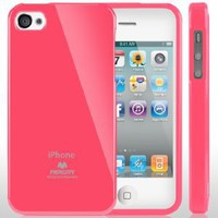 Amazon.com: SQ1 [Mercury] Slim Fit Flexible TPU Case for Apple iPhone 4 (Hot Pink): Cell Phones & Accessories