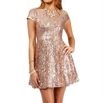 Jazzy-Blush Prom Dress