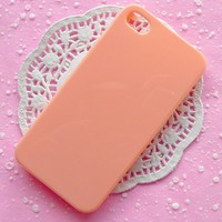 iPhone Case iPhone 4 Case iPhone 4S Case Cell Phone Deco Light Orange