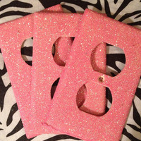 Set of 3 Cotton Candy Fine Glittered Outlets OR Light Switch Covers