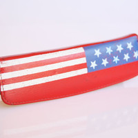 70s Stars and Stripes American flag pencil case