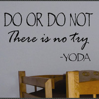 Vinyl Wall Lettering Star Wars Do or Do Not Yoda by WallsThatTalk