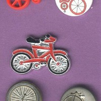 Bicycle and unicycle buttons