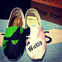 Hand painted Wicked TOMS -Made to Order