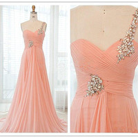 A-line Floor-Length Prom dress/evening dresses
