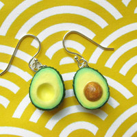 Avocado Earrings by kawaiiculture on Etsy