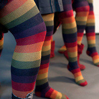 Socks By Sock Dreams  » Socks » Extraordinary Harvest Rainbow Thigh Highs