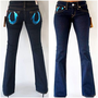 True Religion Bobby Gold Painted Pocket Denim 29 New With Tag $215
