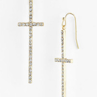 Stephan & Co. Rhinestone Cross Earrings | Nordstrom