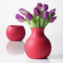 Rubber vase, red
