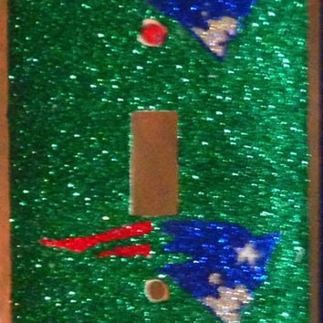 New England Patriots Glittered Light Switch Cover