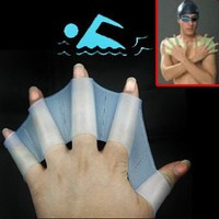 Silicone Swim Gloves ** available sizes: S, M, L **: Sports &amp; Outdoors