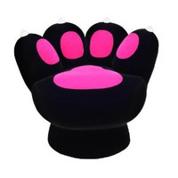 LumiSource Paw Chair, Black/Pink