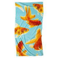 Target Home Gold Fish Photo Print Beach Towel - 62x32&quot;