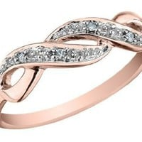 Infinity Diamond Promise Ring in 10K Gold: Jewelry