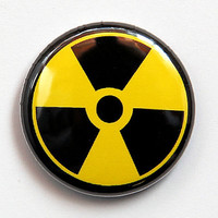 Radiation Symbol - Button Pinback Badge 1 inch