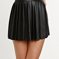 Kendall & Kylie Pleated Faux Leather Skirt at PacSun.com