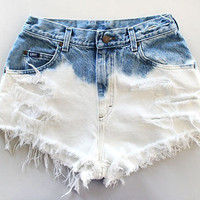 Bleached Ombre Shorts by SheaBoutique on Etsy