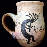 Kokopelli In Sunset Coffee Mug    12 Ounce by RobinHarley64